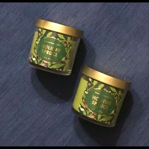 2 Opalhouse Soy Candle Holiday Spruce Soy Candle